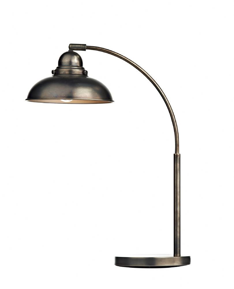 Dynamo 1-light Antique Chrome Table Lamp Light DYN4261 (Class 2 Double Insulated)